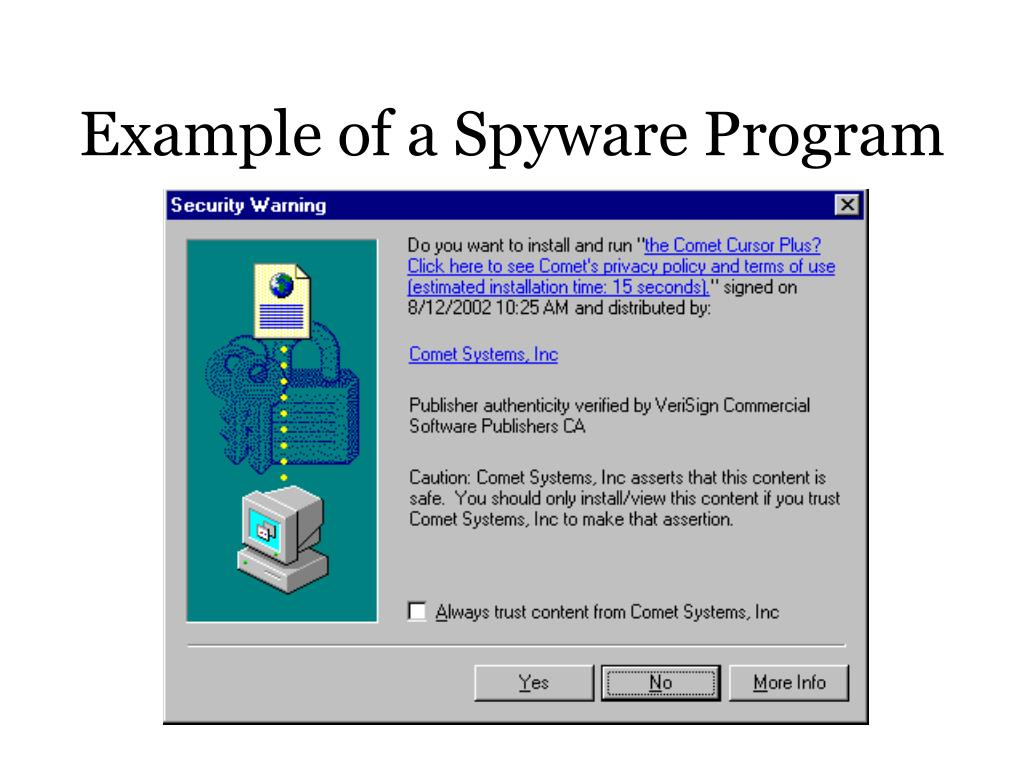 Example of a Spyware Program