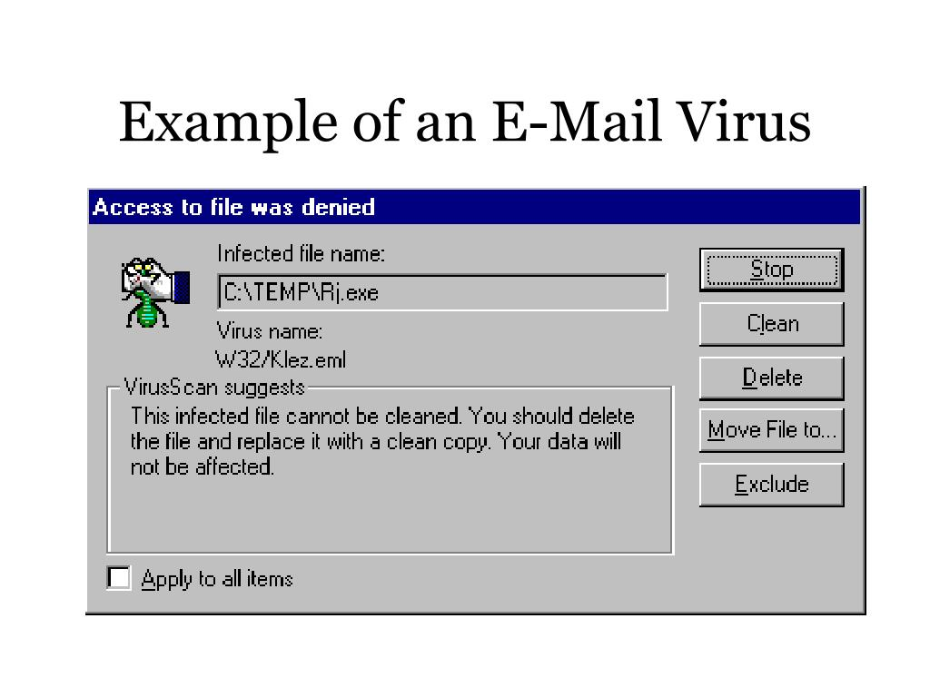 Example of an E-Mail Virus