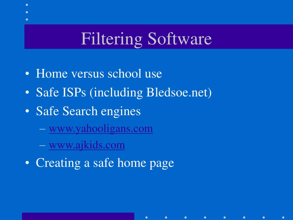 Filtering Software