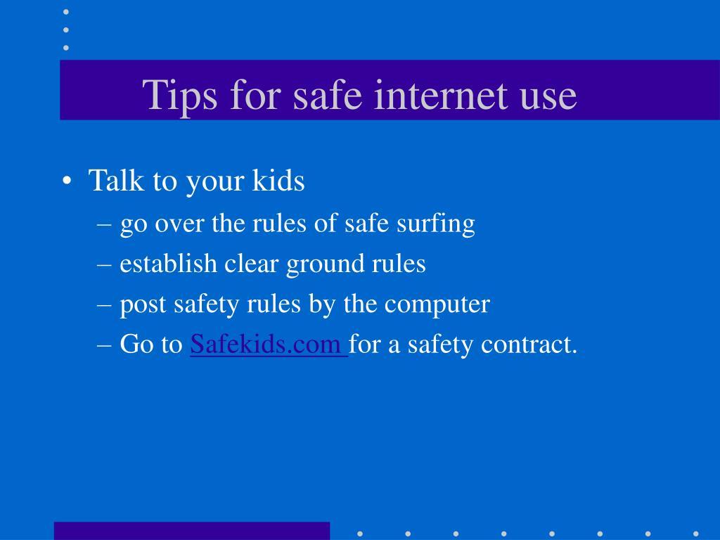 Tips for safe internet use
