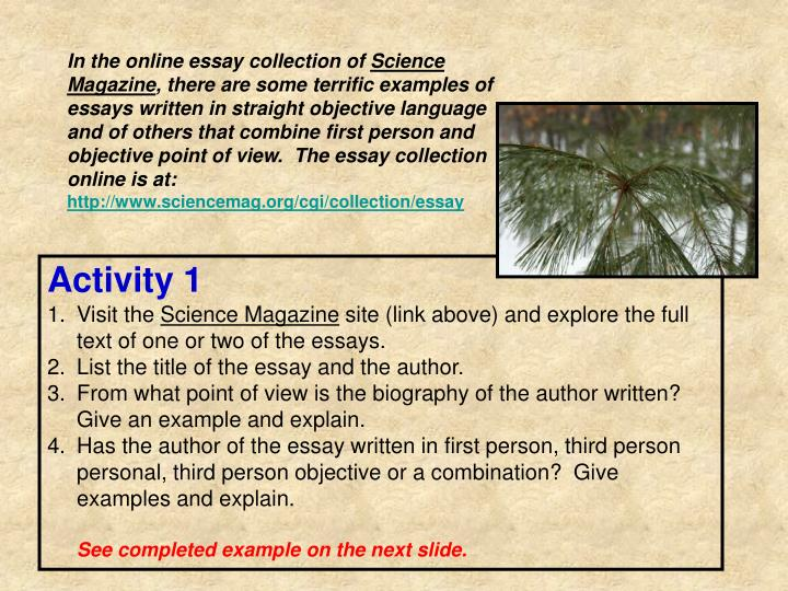 In the online essay collection of