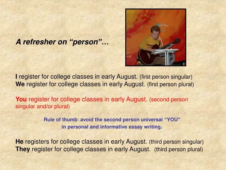 """A refresher on """"person""""…"""