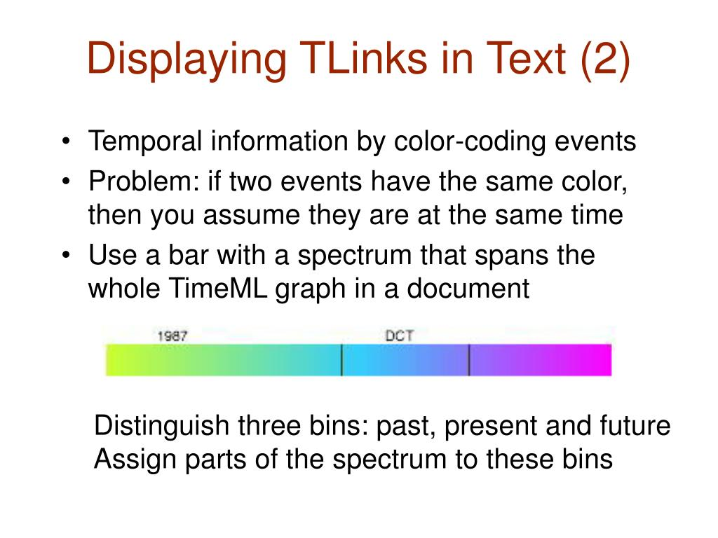 Displaying TLinks in Text (2)