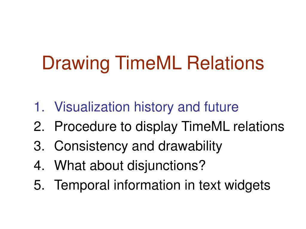 Drawing TimeML Relations