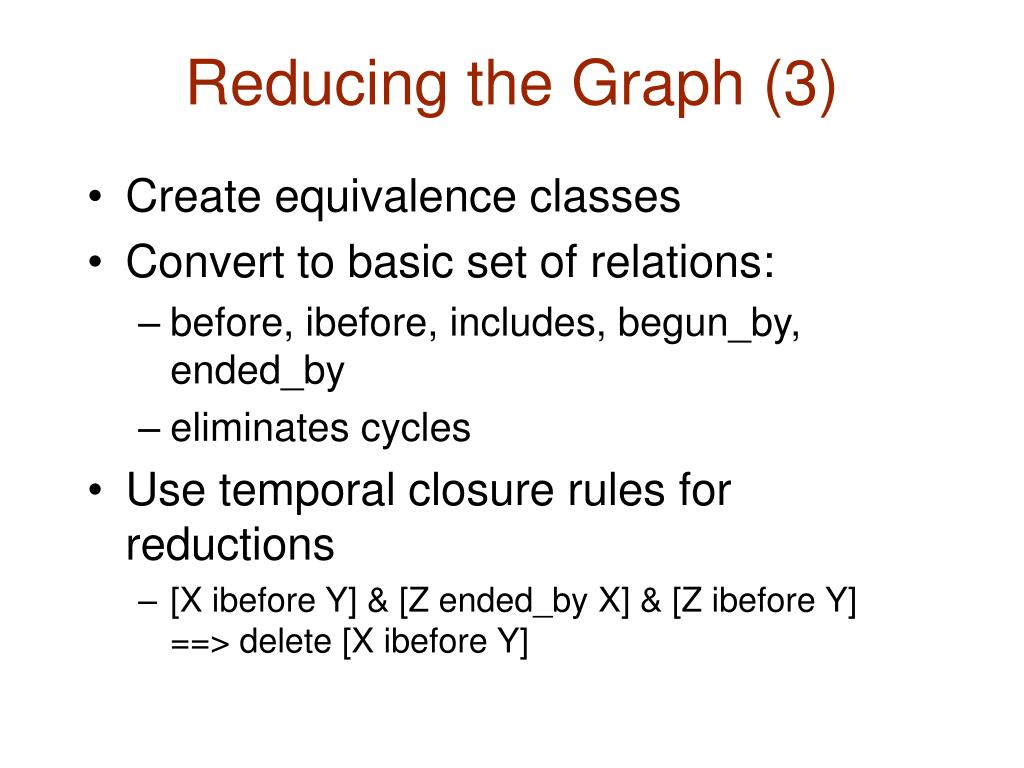 Reducing the Graph (3)