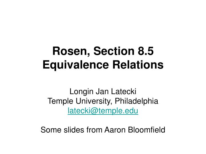 Rosen section 8 5 equivalence relations