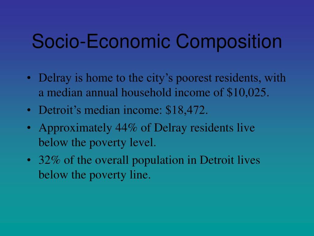 Socio-Economic Composition