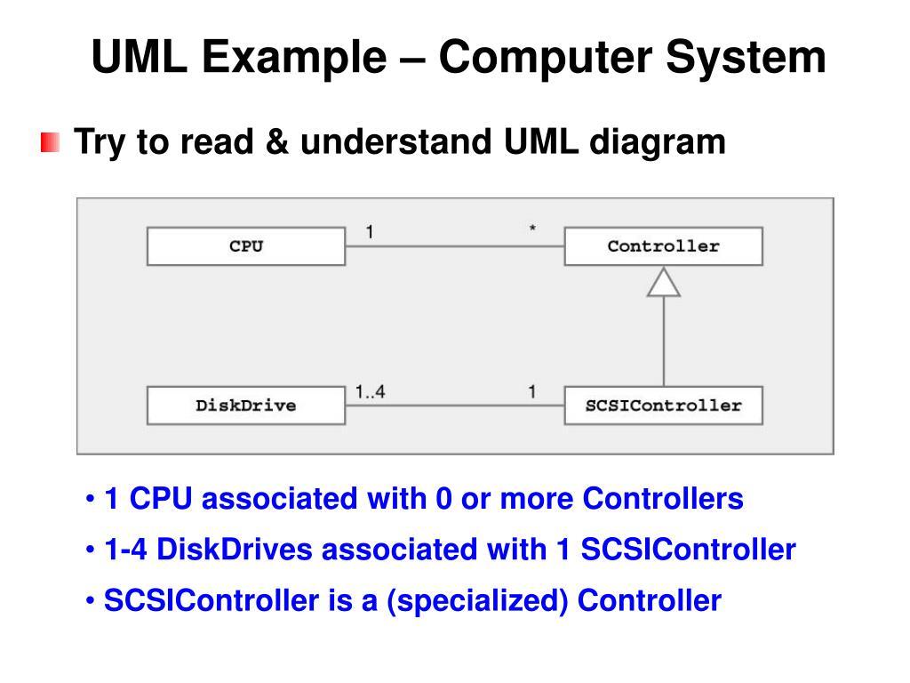 UML Example – Computer System