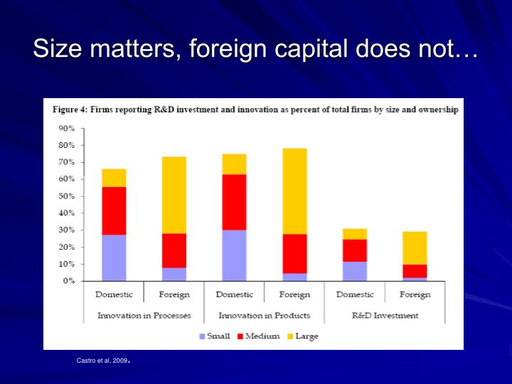 Size matters, foreign capital does not…