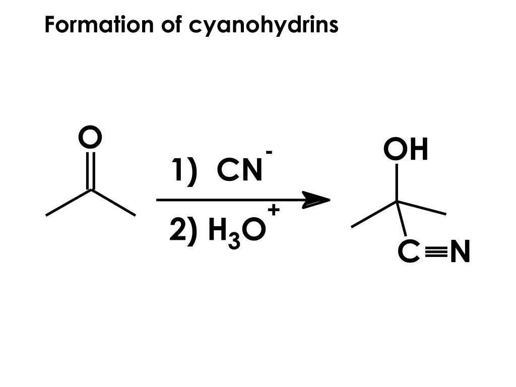 Formation of cyanohydrins
