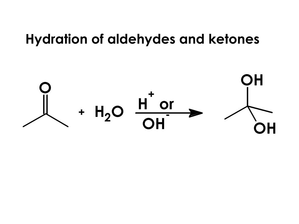 Hydration of aldehydes and ketones