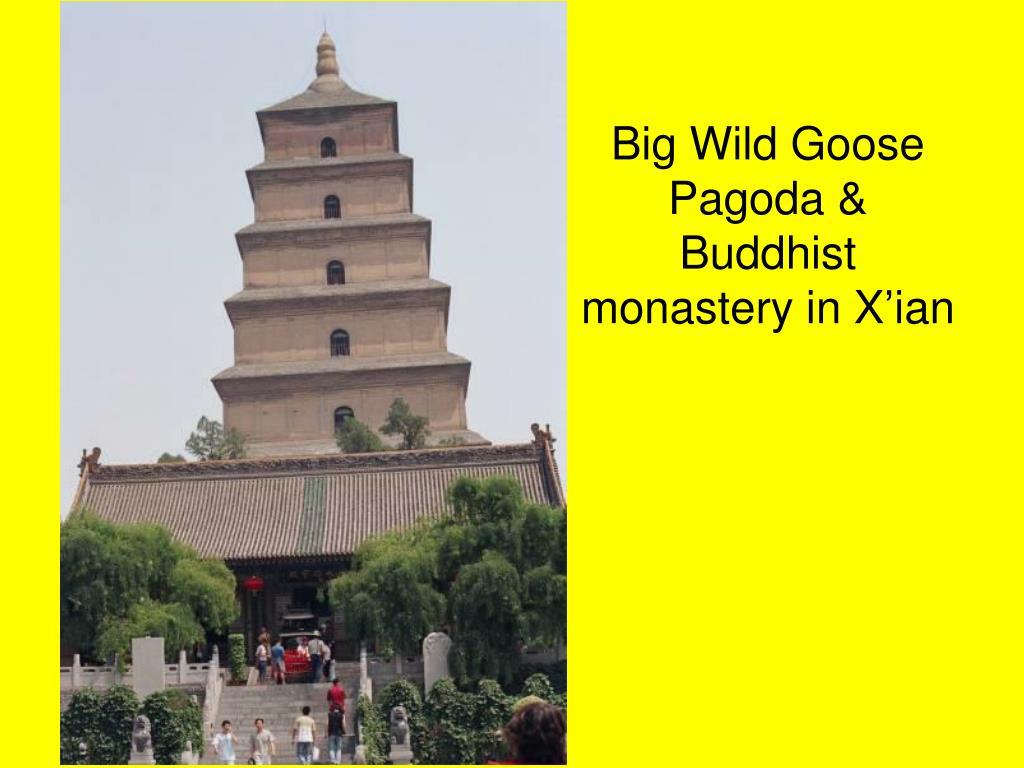 Big Wild Goose Pagoda & Buddhist monastery in X'ian