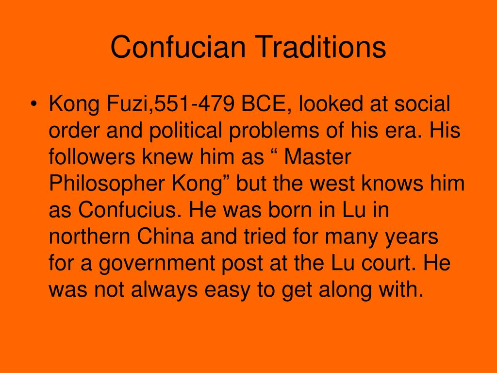 Confucian Traditions