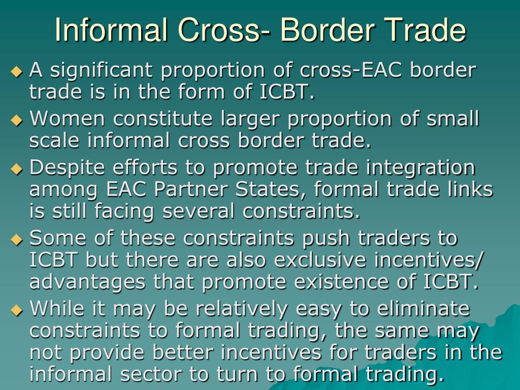 Informal Cross- Border Trade