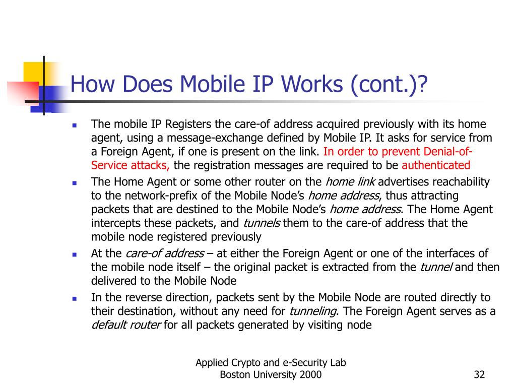 How Does Mobile IP Works (cont.)?