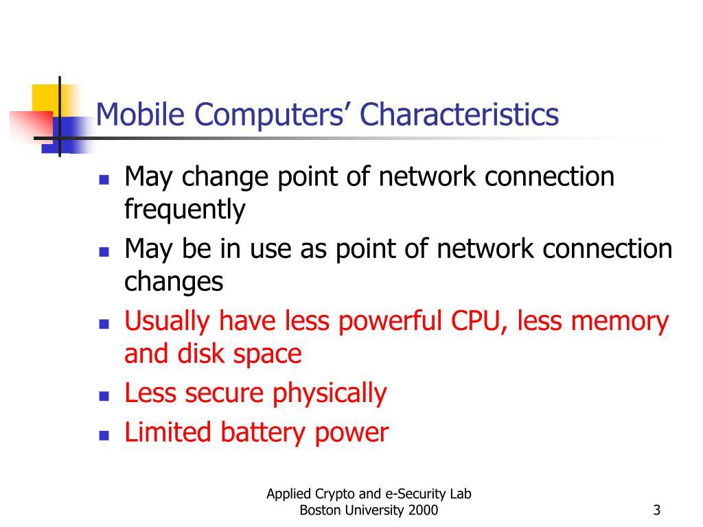 Mobile Computers' Characteristics