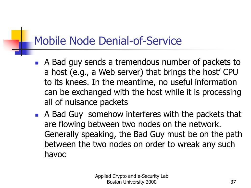Mobile Node Denial-of-Service