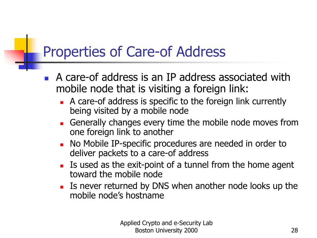 Properties of Care-of Address