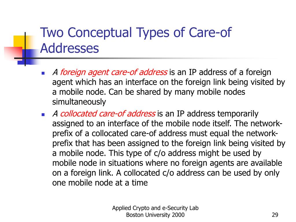 Two Conceptual Types of Care-of Addresses