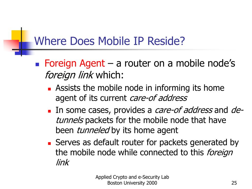 Where Does Mobile IP Reside?
