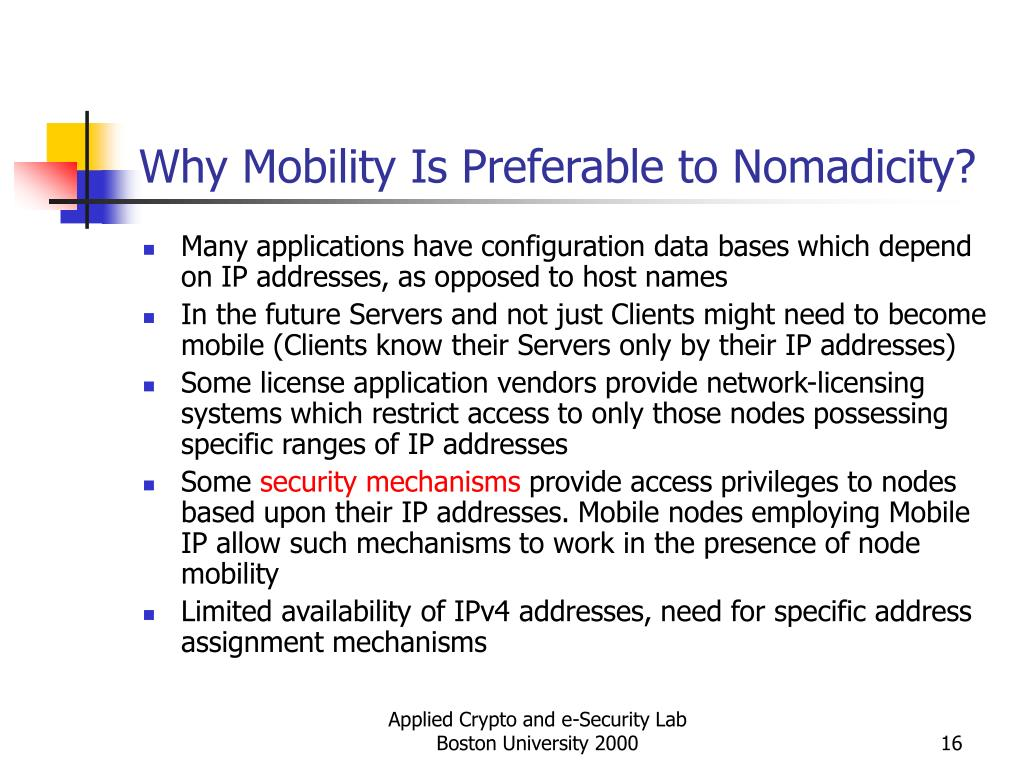 Why Mobility Is Preferable to Nomadicity?