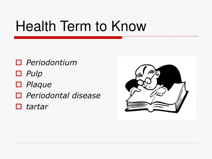 Health term to know