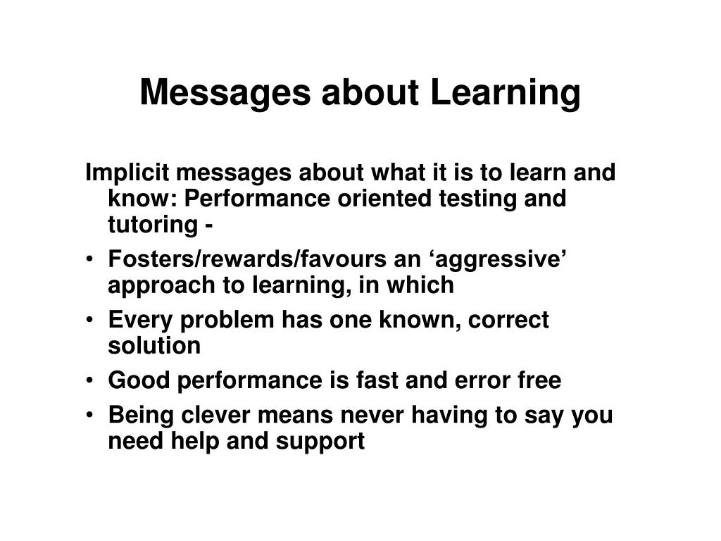 Messages about Learning