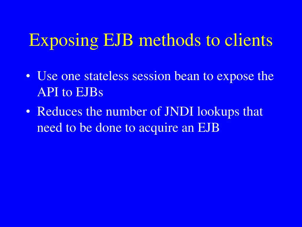 Exposing EJB methods to clients