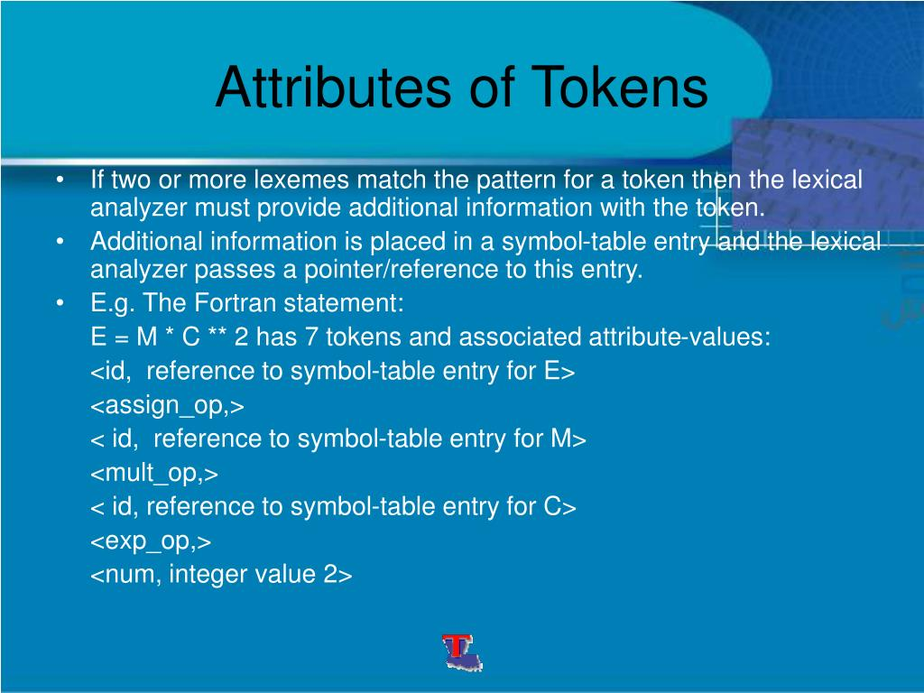 Attributes of Tokens