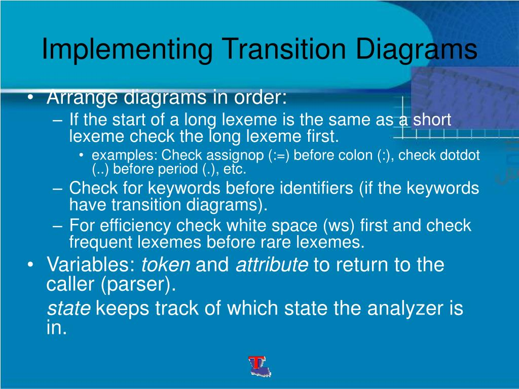 Implementing Transition Diagrams