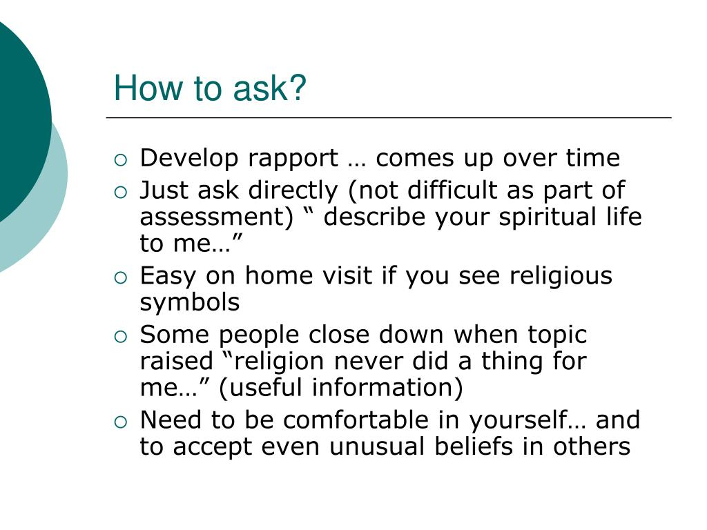 How to ask?