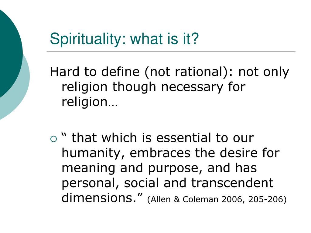 Spirituality: what is it?