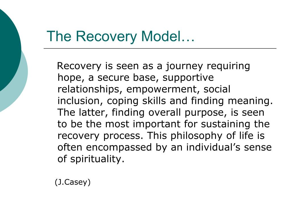 The Recovery Model…