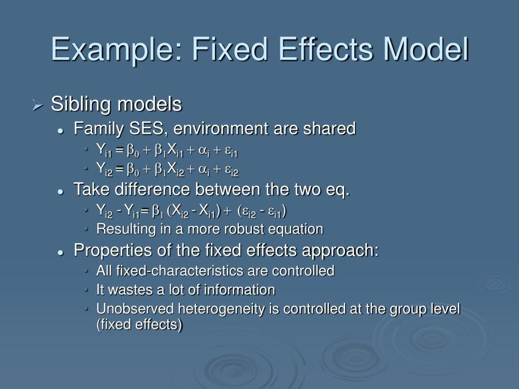 Example: Fixed Effects Model