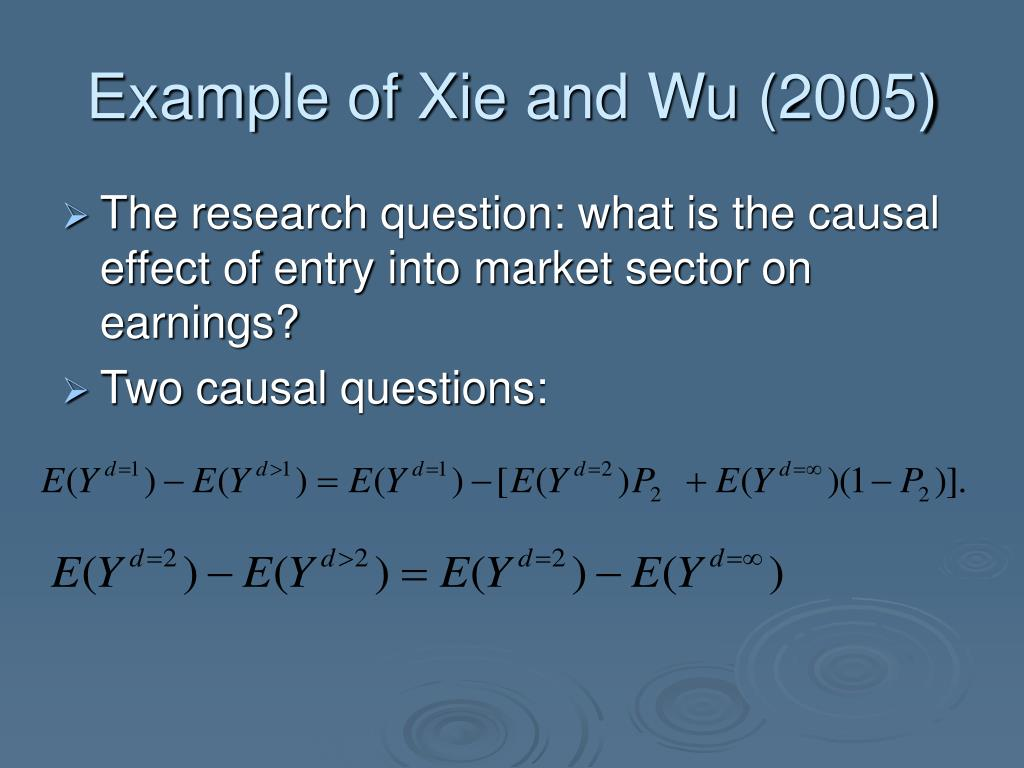 Example of Xie and Wu (2005)