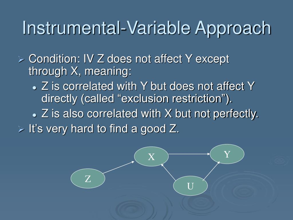 Instrumental-Variable Approach