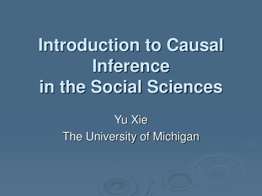 Introduction to Causal Inference