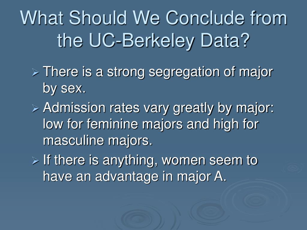 What Should We Conclude from the UC-Berkeley Data?