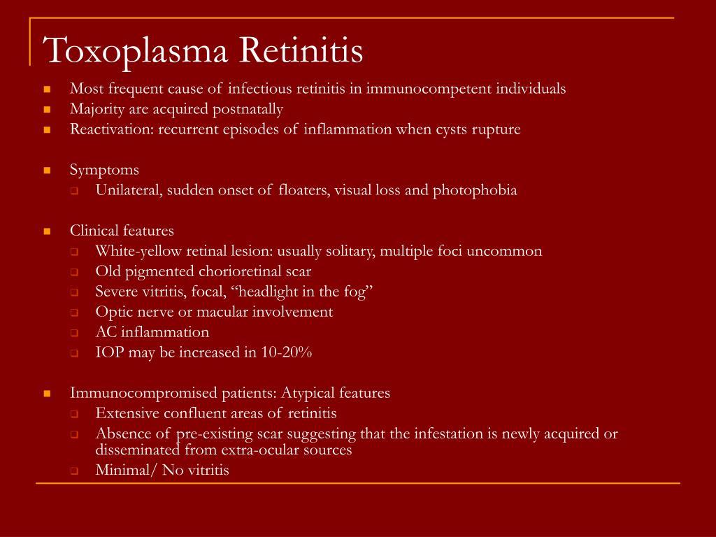 Toxoplasma Retinitis