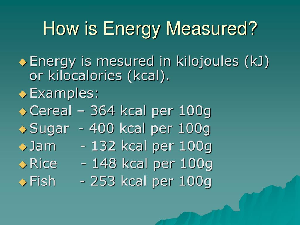 How is Energy Measured?