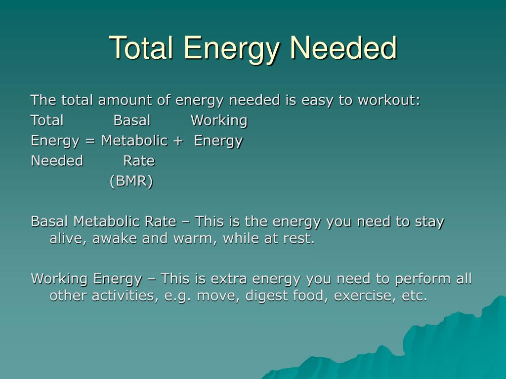 Total Energy Needed