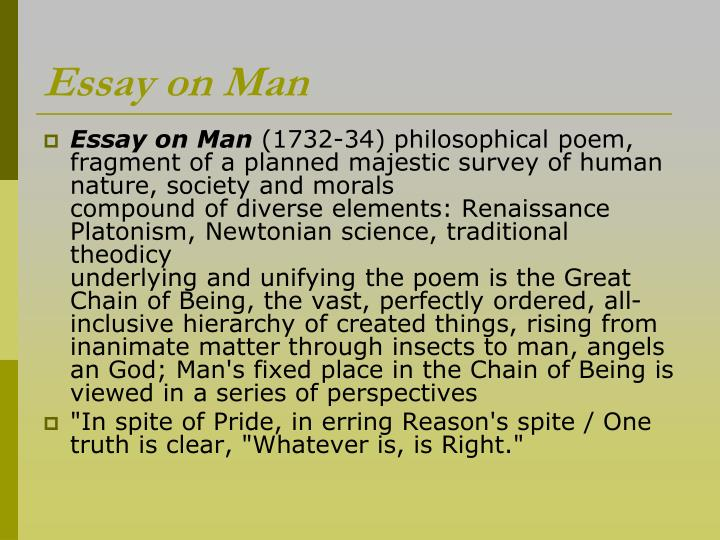 An essay concerning the nature of man