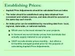 establishing prices