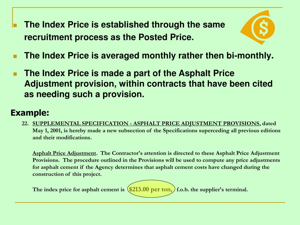The Index Price is established through the same