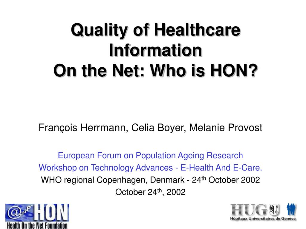Quality of Healthcare Information