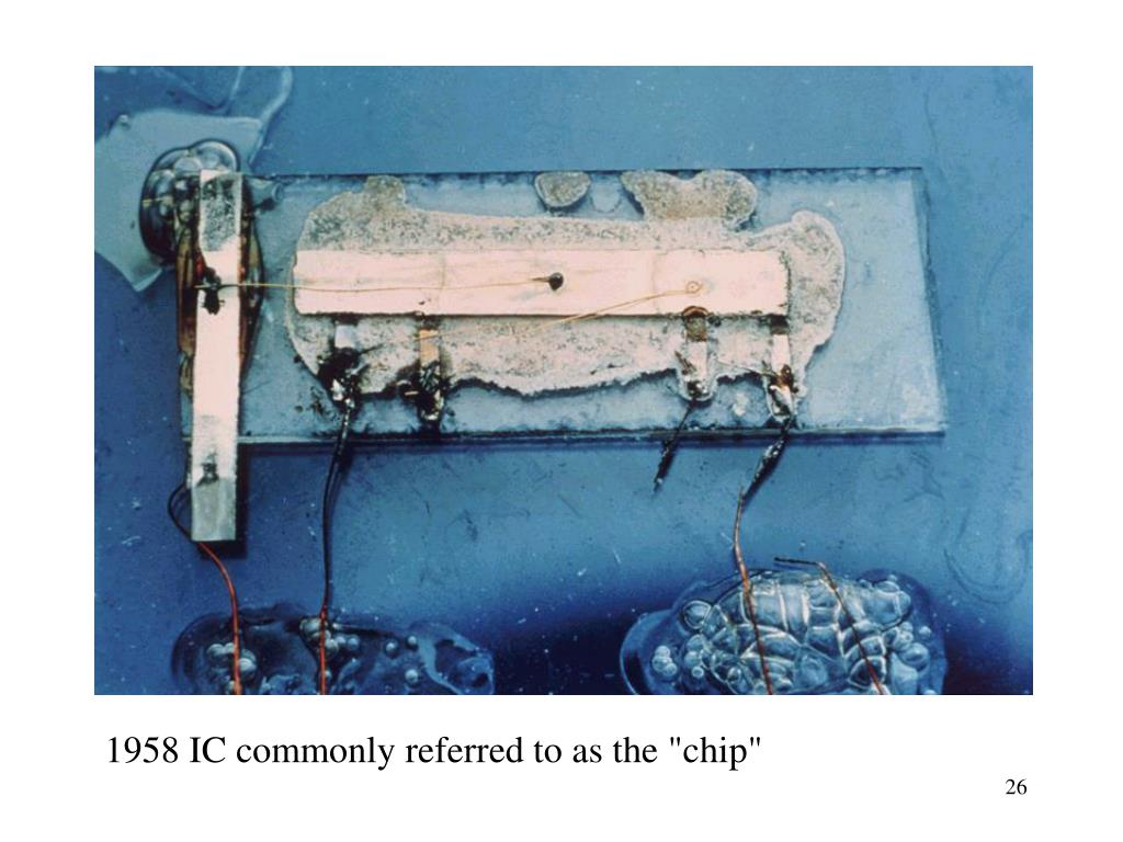 "1958 IC commonly referred to as the ""chip"""