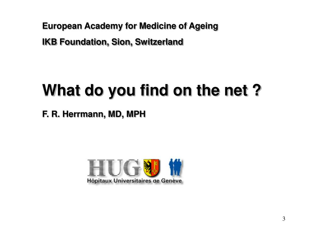 European Academy for Medicine of Ageing
