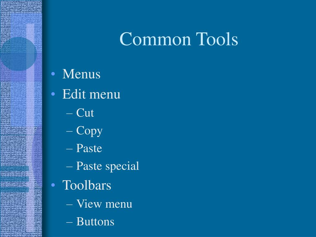 Common Tools