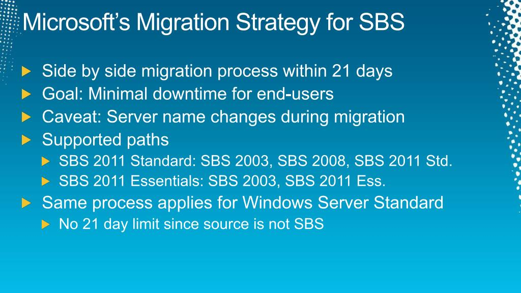 Microsoft's Migration Strategy for SBS