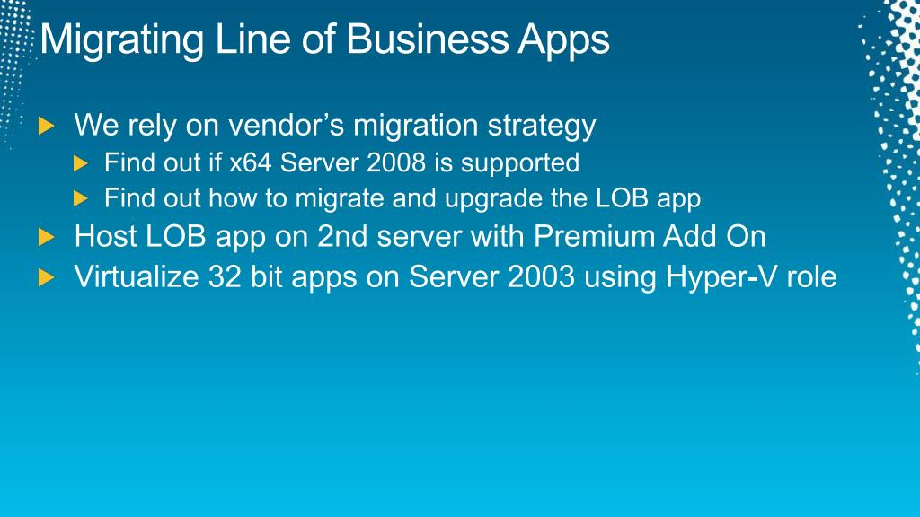 Migrating Line of Business Apps